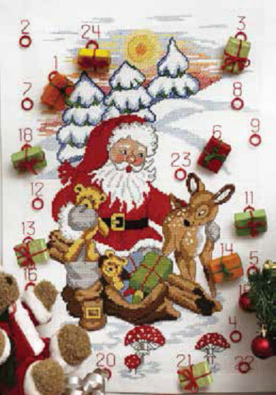 Santa, Deer And Bears Calendar