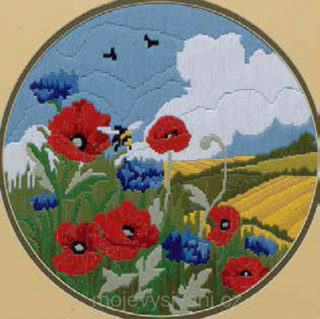 Poppies & Cornflower